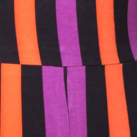 Acro Unitard in Stripe Purple and Orange