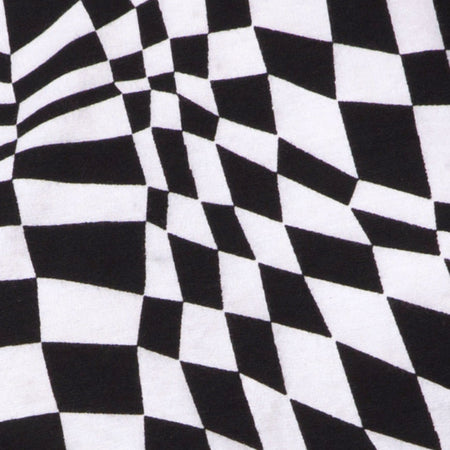 Acro Unitard in Square Flag Black and white