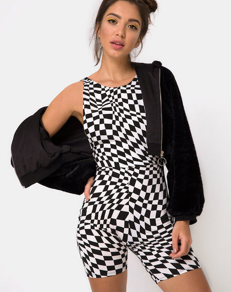 Moran Jumpsuit in Formal Stripe By Motel