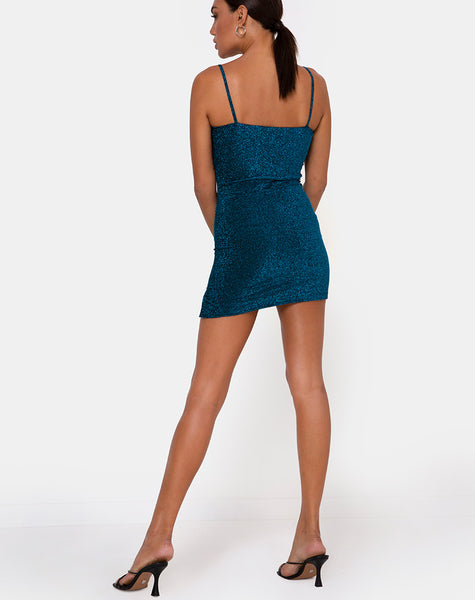 Alene Bodycon Dress in Sapphire Blue by Motel