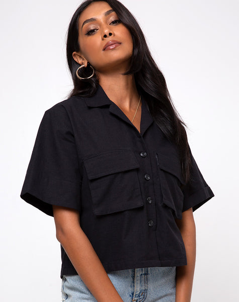 Alka Ultility Shirt in Black by Motel