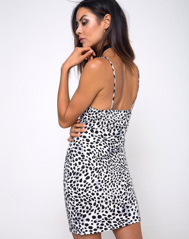 Alvina Bodycon Dress in Dalmatian by Motel
