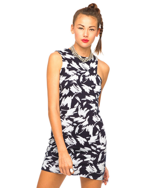 Motel Ameri Cut Out Dress in Paint Marks