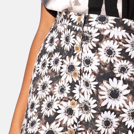 Andrea Mini Skirt in Dyed Daisy by Motel