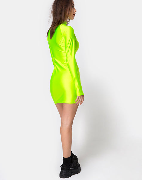 Anegan Bodycon Dress in Nylon Green Motel by Motel