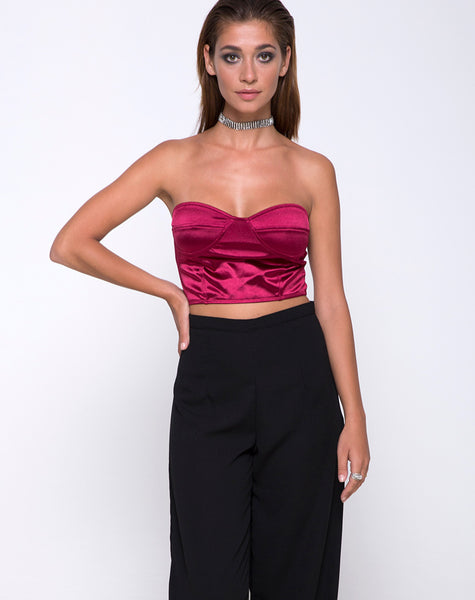 Ari Palazzo Pant in Black by Motel