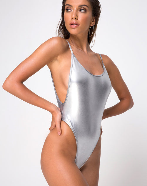 Arines Swimsuit in Silver by Motel