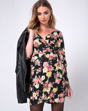 Azetti Wrap Dress in Vintage Floral by Motel