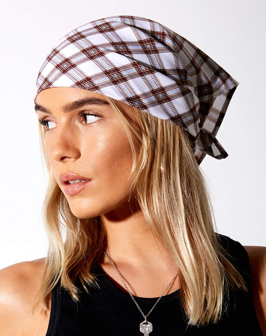 Bandana in Checkmate Brown 14