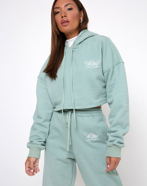 Roky Hoodie in Seafoam Angelo Embro by Motel