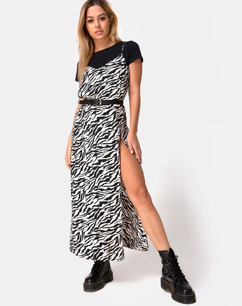 Batis Maxi Dress in 90's Zebra