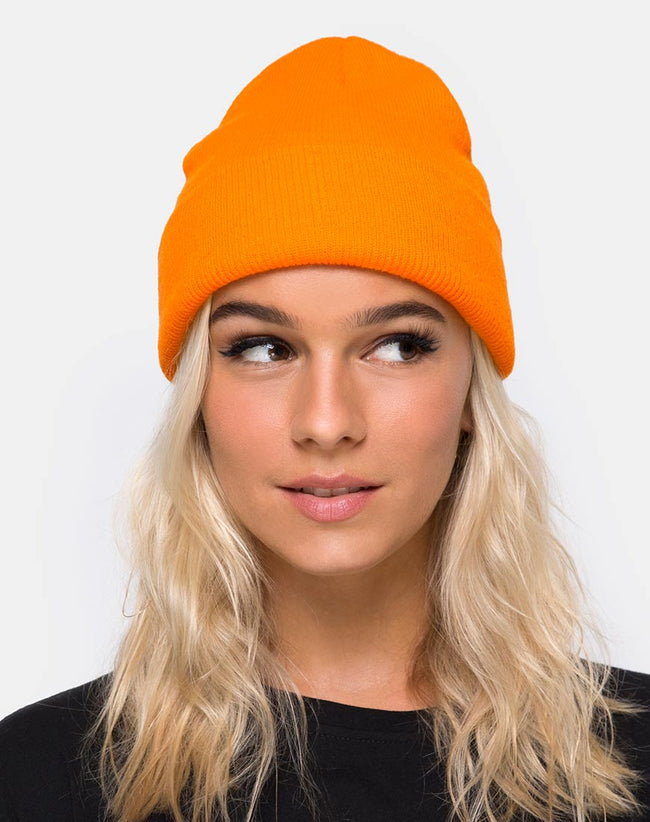 Beanie Hat in Sour Orange by Motel