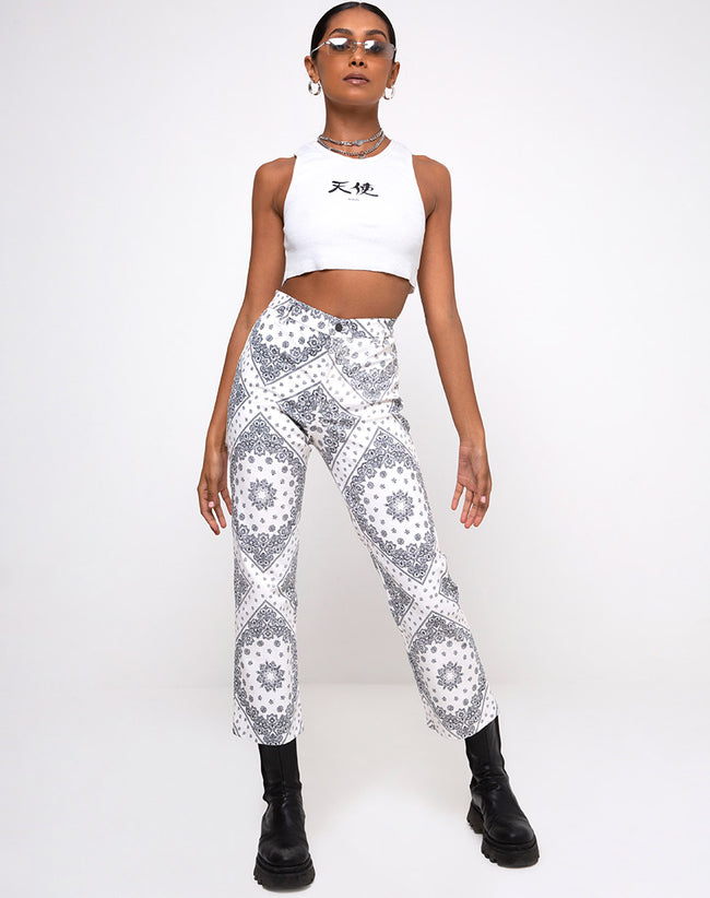 Beth Trouser in Bandana Ecru Placement
