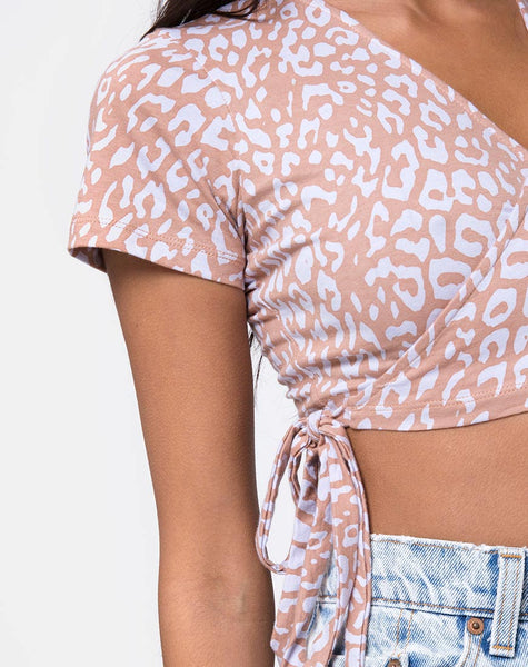 Biaz Crop Top in Leopard Spot by Motel
