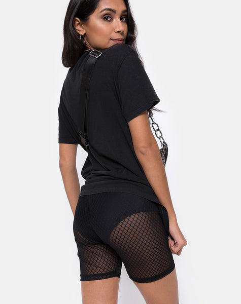 Bike Short in Black Fishnet by Motel