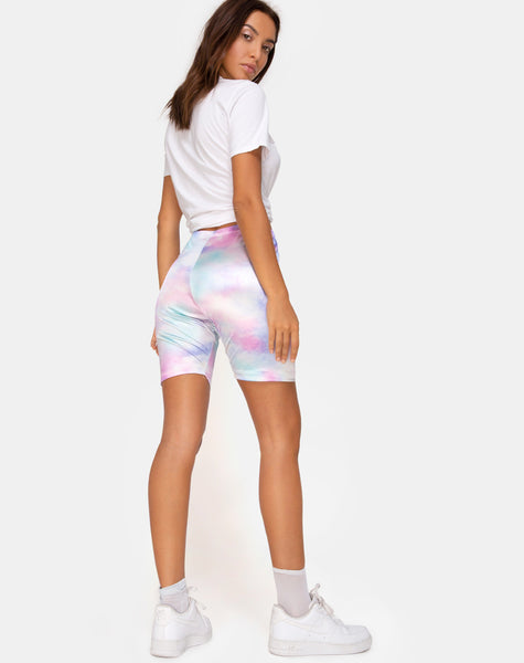 Bike Short in Pastel Tie Dye by Motel