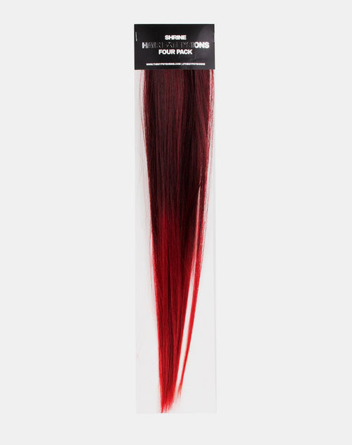 Black Ombre Tinsel Hair Extension by Motel