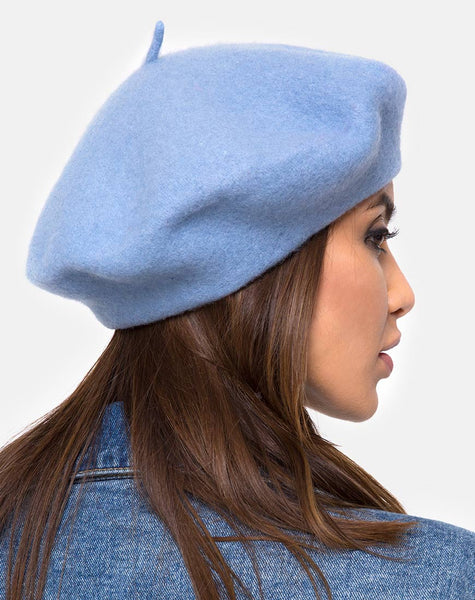 Wool Beret in Blue By Motel