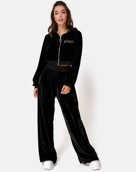 Sunny Kiss Oversized Tee in Black Cosmos by Motel