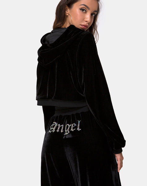 Wide Leg Jogger in Angel Dimante Hot Fix by Motel