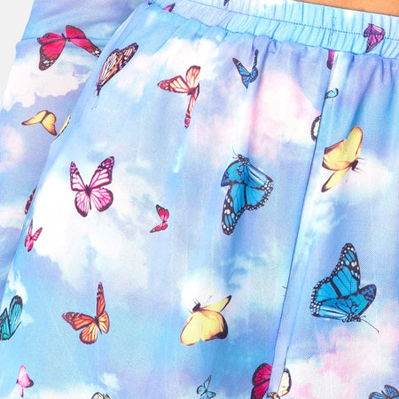 Boris Short in Mesh Blue Butterfly by Motel