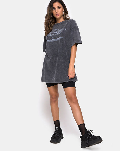 Sunny Kiss Tee in Stone Wash with Angelo by Motel