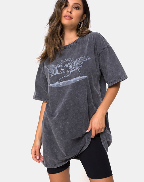 Sunny Kiss Tee in Stone Wash with Angelo