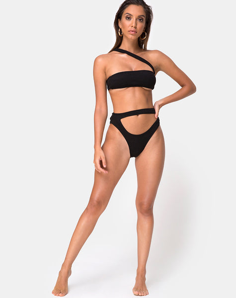 Bound Bikini Top in Black by Motel