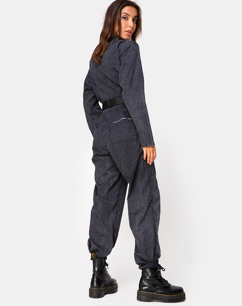 Brody Boiler Suit in Black by Motel