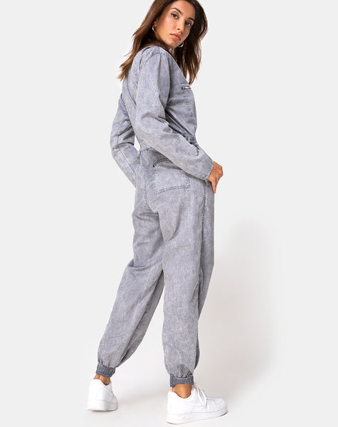 Brody Boiler Suit in Stone Wash by Motel