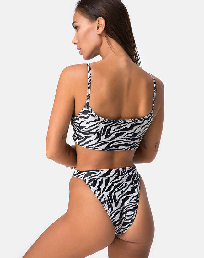 Bulvya Bikini Top in Mini Zebra by Motel
