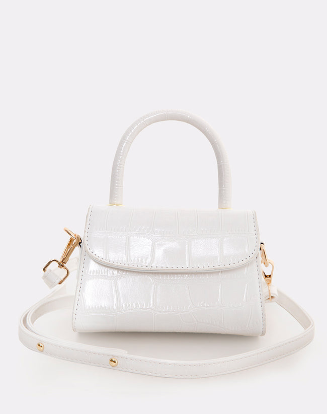 Kenny Micro Bag in White by Motel