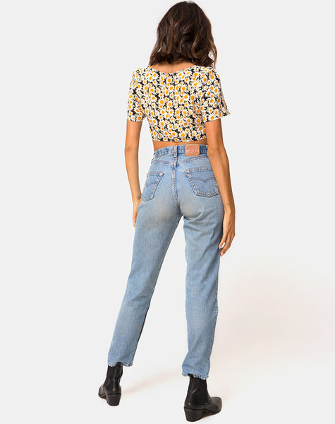 Cavazza Crop Top in Delightful Daisy