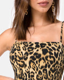 Cinelle Bodycon Dress in Leopard by Motel