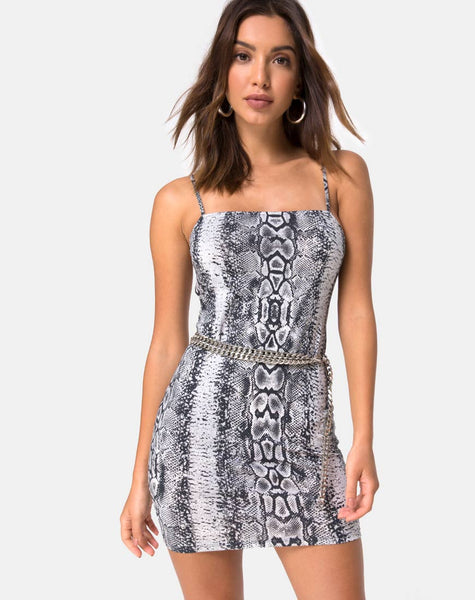 Cinelle Bodycon Dress in Snake by Motel