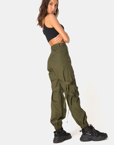Clive Trouser in Khaki Drill by Motel