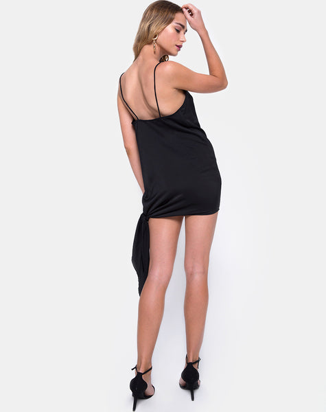 Colaro Slip Dress in Black by Motel