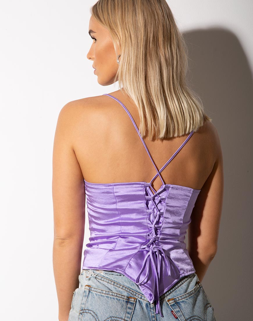 Cosey Top in Satin Lilac by Motel