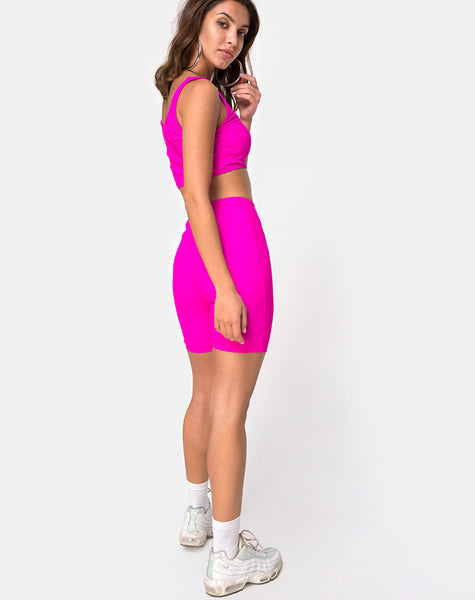 Cycle Short in Neon Pink by Motel