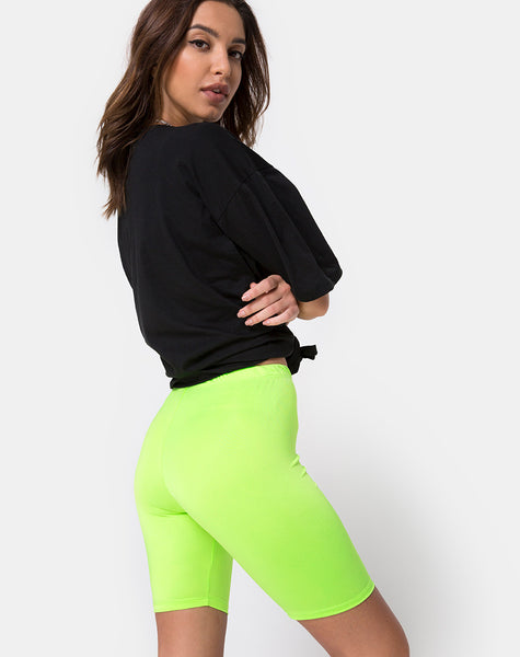 Bike Short in Fluro Green