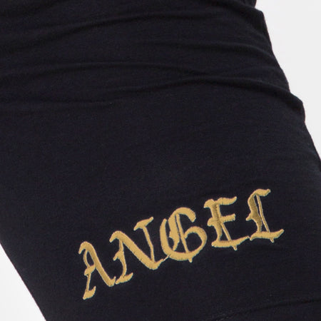 Cycle Short Black No Angel Embroidery by Motel