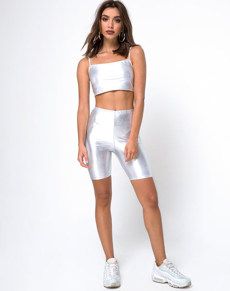 081c6ee8541 ... Cycle Short in Spandex Silver by Motel ...