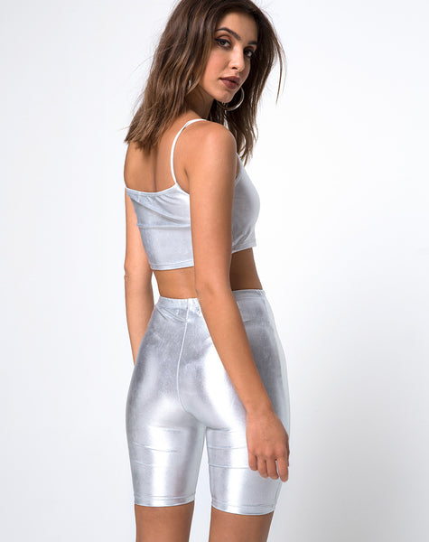 Cycle Short in Spandex Silver by Motel