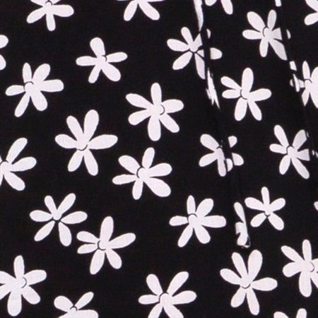 Cypress Midi Dress in 90's Daisy Black and White