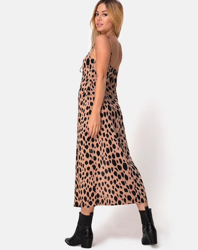 Cypress Midi Dress in Flintstone by Motel
