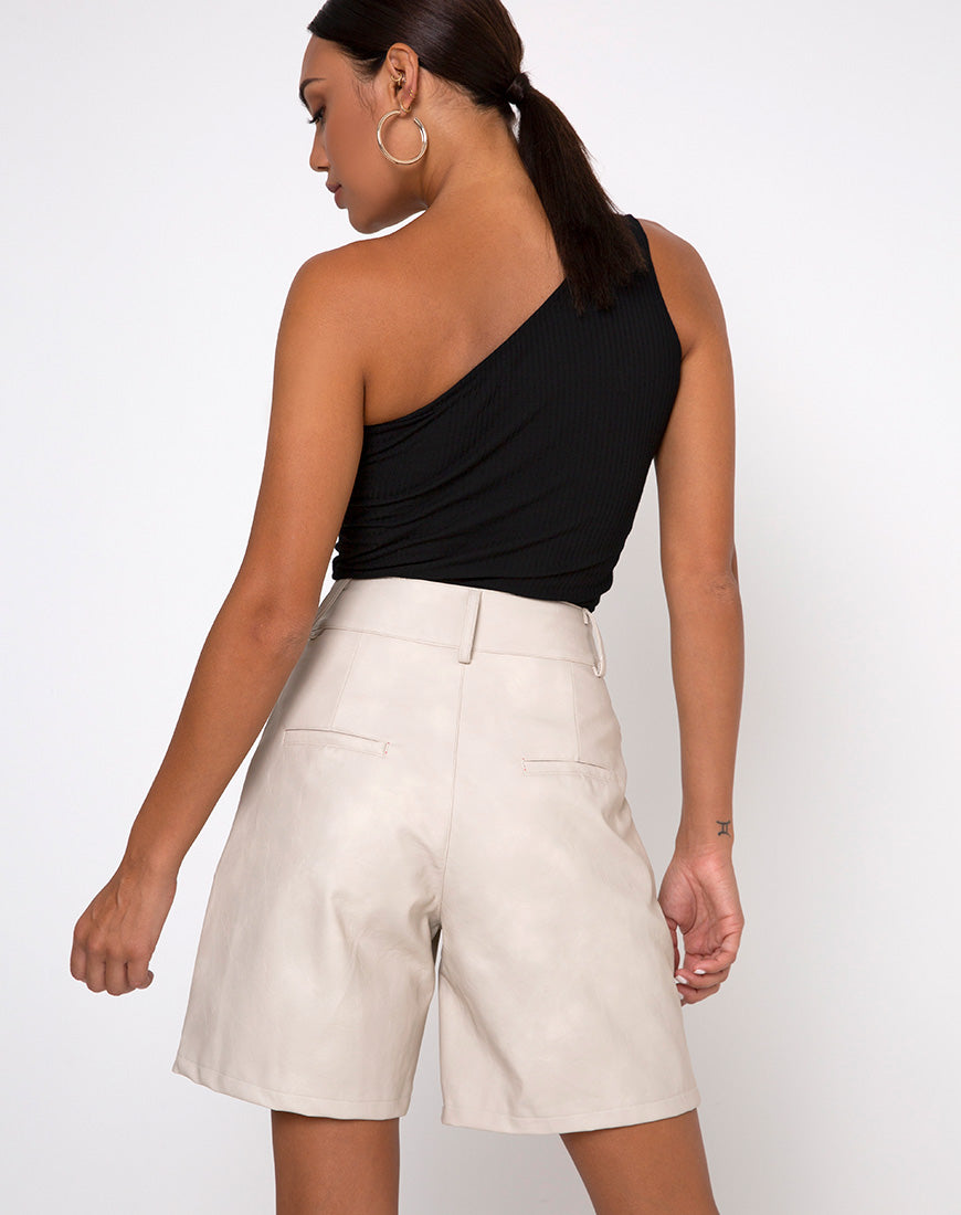 Dab Highwaisted Short in Pu Stone by Motel