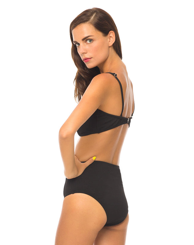Daisy Bikini Top in Black by Motel