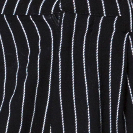 Dastan Trouser in Pinstripe Black