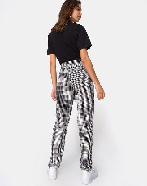 Dastan Trousers in Small Dogtooth