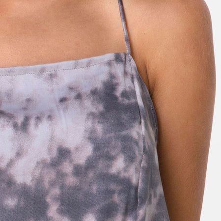 Datista Dress in Bleached Tie Dye Grey by Motel